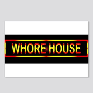 Whore House Sign Postcards (Package of 8)