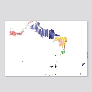 Turks And Caicos Islands Flag And Map Postcards (P