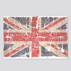 UK Flag Distressed Postcards (Package of 8)