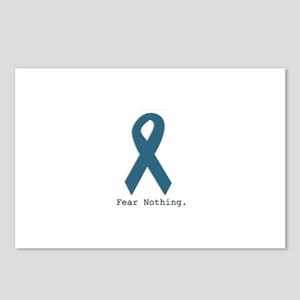 Fear Nothing. Teal Ribbon Postcards (Package of 8)
