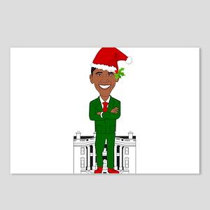 barack obama santa claus Postcards (Package of 8)