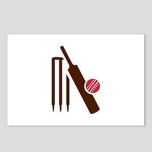Cricket bat stumps Postcards (Package of 8)