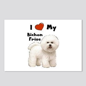 I Love My Bichon Frise Postcards (Package of 8)