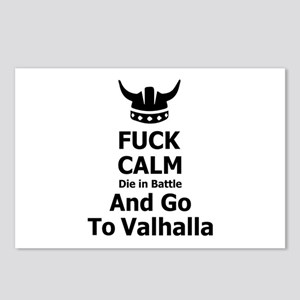 Fuck Calm...Go To Valhalla Postcards (Package of 8