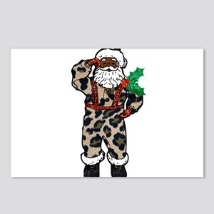 african leopard santa cla Postcards (Package of 8)