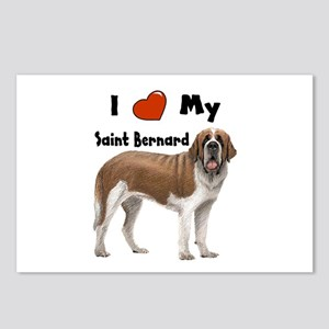 I Love My Saint Bernard Postcards (Package of 8)