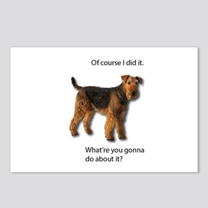Guilty Airedale Shows No Postcards (Package of 8)