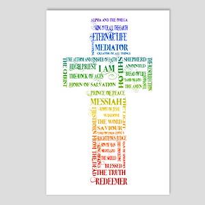 Names of Jesus Cross Postcards (Package of 8)