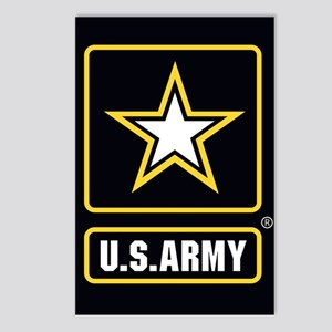 US ARMY Gold Star Logo Black Postcards (Package of