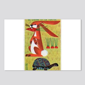 Vintage The Tortoise and the Hare Matchbox Label P