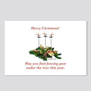 Fencing Christmas Postcards (Package of 8)