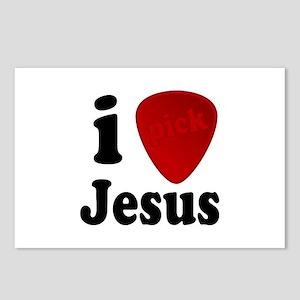 I Pick Jesus Guitar Pick Postcards (Package of 8)
