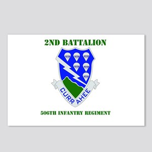 DUI - 2nd Bn - 506th Infantry Regt with Text Postc