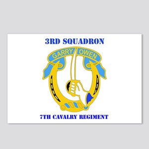 DUI - 3rd Sqdrn - 7th Cavalry Regt with Text Postc