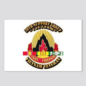 38th Support Group w SVC Ribbon Postcards (Package