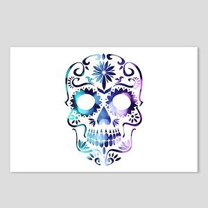 Blue & Purple Sugar Skull Postcards (Package of 8)