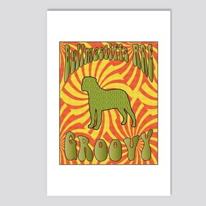 Groovy Bullmastiffs Postcards (Package of 8)