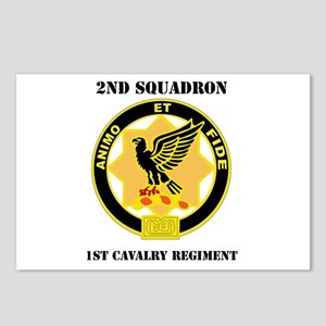 DUI - 2nd Sqdrn - 1st Cavalry Regt with Text Postc