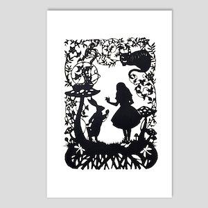 Alice in Wonderland Silho Postcards (Package of 8)
