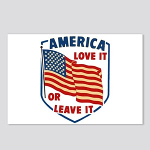 America Love it Postcards (Package of 8)