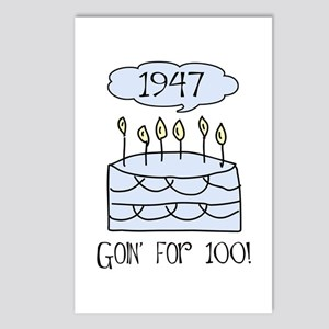 1947 60th birthday Postcards (Package of 8)