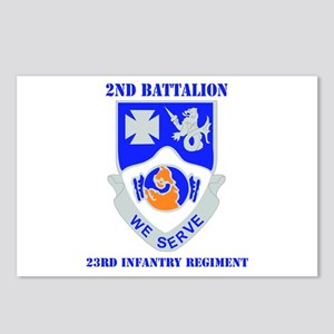 DUI - 2nd Bn - 23rd Infantry Regt with Text Postca