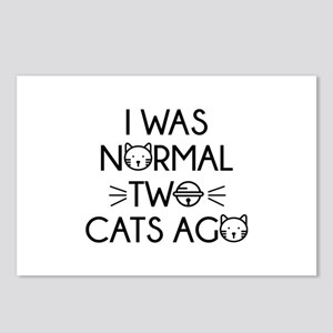 I Was Normal Two Cats Ago Postcards (Package of 8)