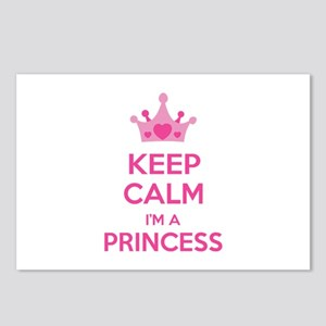 Keep calm I'm a princess Postcards (Package of 8)