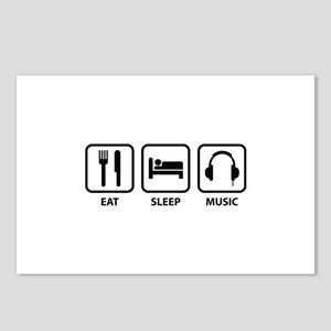 Eat Sleep Music Postcards (Package of 8)