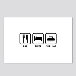Eat Sleep Curling Postcards (Package of 8)