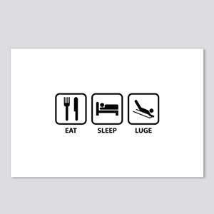 Eat Sleep Luge Postcards (Package of 8)