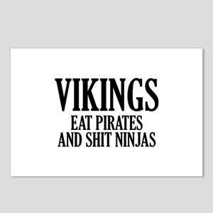 Vikings eat Pirates and shit Ninjas Postcards (Pac