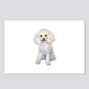 Poodle - Min (W) Postcards (Package of 8)