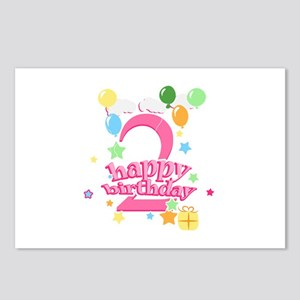2nd Birthday with Balloon Postcards (Package of 8)