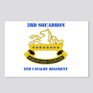 DUI - 3rd Sqdrn - 8th Cavalry Regt with Text Postc