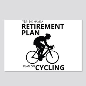 Cyclist Retirement Plan Postcards (Package of 8)
