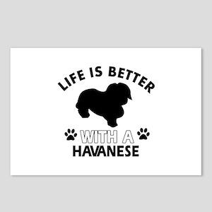 Funny Havanese lover designs Postcards (Package of
