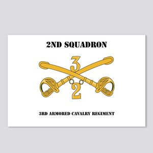 DUI - 2nd Squadron - 3rd ACR with text Postcards (