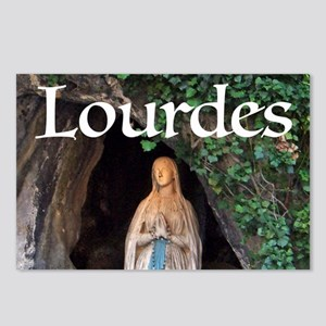 Virgin Mary Lourdes 1 Postcards (Package of 8)
