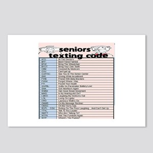 senior texting code Postcards (Package of 8)