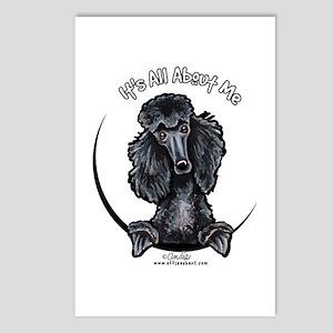 Black Standard Poodle IAAM Postcards (Package of 8