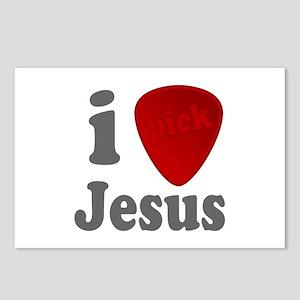 I Heart Jesus Guitar Pick Postcards (Package of 8)