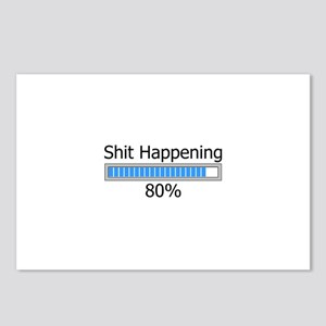 Shit Happening Progress Bar Postcards (Package of