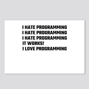 I Love Programming Postcards (Package of 8)