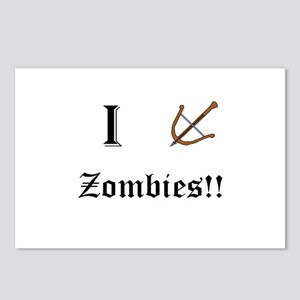 I destory Zombies Postcards (Package of 8)