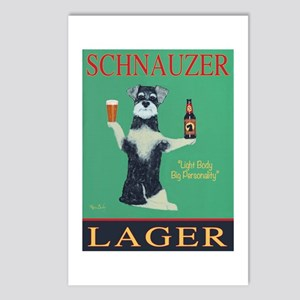 Schnauzer Lager Postcards (Package of 8)
