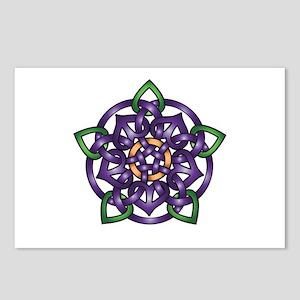 Purple Celtic Rose Postcards (Package of 8)