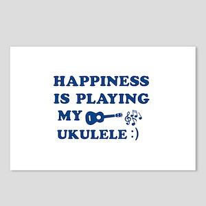 Ukulele Vector Designs Postcards (Package of 8)