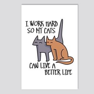 I work hard so my cats can live a better life Post