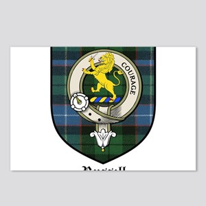 Russell Clan Crest Tartan Postcards (Package of 8)